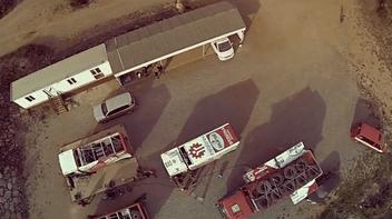 .L'équipe teste un camion néerlandais «MAN»