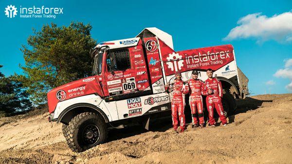 Equipe InstaForex Loprais - pré Dakar Shaking
