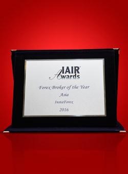 «Broker Forex d'Asie 2016» selon IAIR Awards