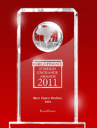 World Finance Awards 2011 – El Mejor Bróker en Asia