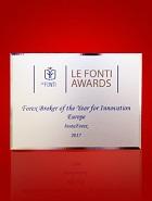 Le plus innovant Broker Forex en Europe 2017 selon Le Fonti Awards