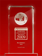World Finance Awards 2009 - El Mejor Bróker en Asia