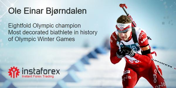 Ole Einar  Björndalen, der neue Markenbotschafter für InstaForex